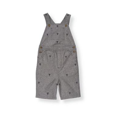 Chambray Lobster Embroidered Chambray Shortall at JanieandJack