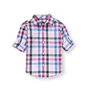 Gingham Roll Cuff Shirt