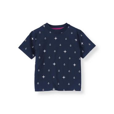 Classic Navy Anchor Tee at JanieandJack