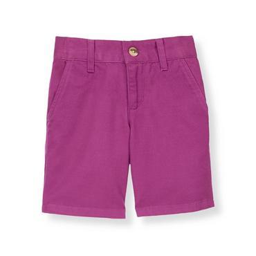 Boys Bright Purple Twill Short at JanieandJack