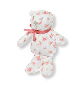 Floral Bear Rattle