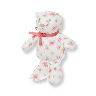 Pink Bouquet Floral Bear Rattle at JanieandJack