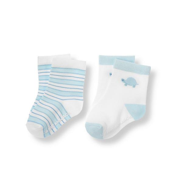 Turtle Stripe Sock Two-Pack