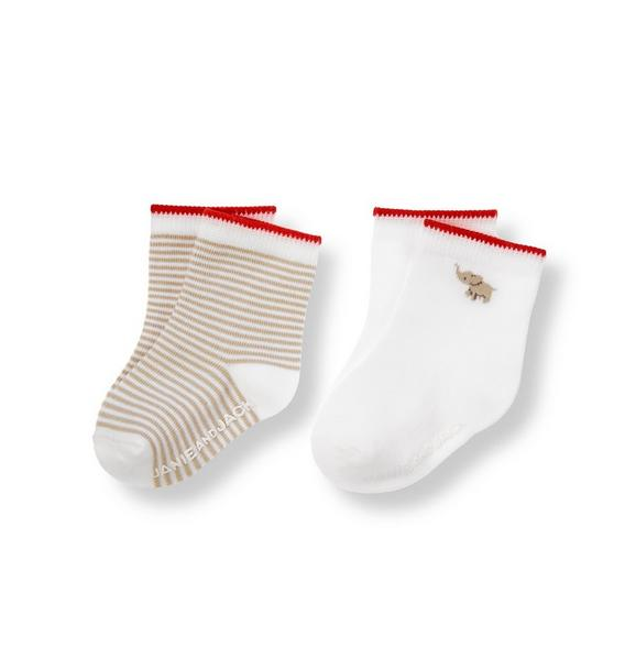 Elephant Stripe Sock Two-Pack