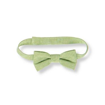Baby Boy Reed Green Linen Blend Bowtie at JanieandJack