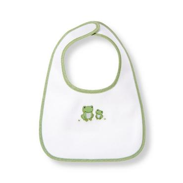 Pure White Frog Bib at JanieandJack