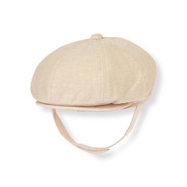 Baby Boy Heathered Khaki Linen Blend Cap at JanieandJack