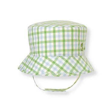 Baby Boy Reed Green Check Gingham Hat at JanieandJack
