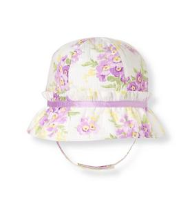 Bow Stripe Dobby Floral Hat