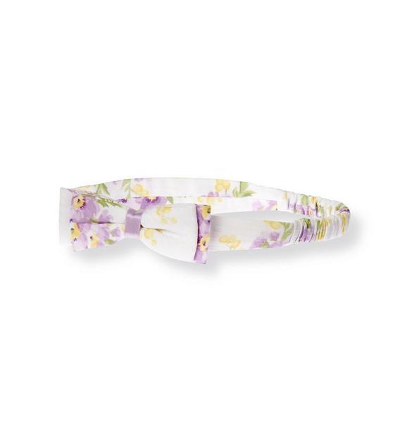 Bow Floral Dobby Headband