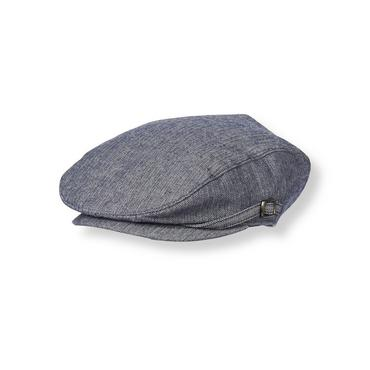 Boys Navy Herringbone Herringbone Cap at JanieandJack