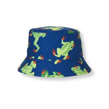 Boys Blue Frog Frog Bucket Hat at JanieandJack