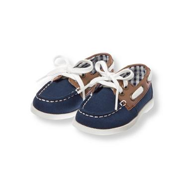 Navy Colorblock Boat Shoe at JanieandJack