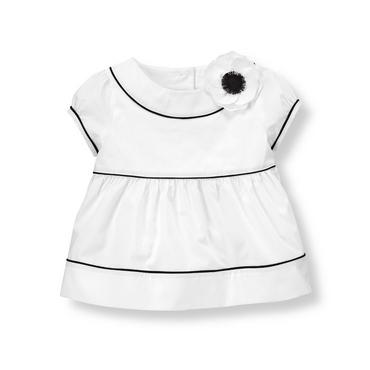 Pure White Corsage Poppy Top at JanieandJack
