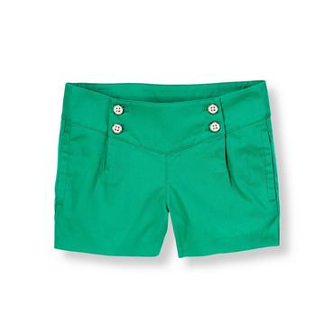 Emerald Green Button Twill Short at JanieandJack
