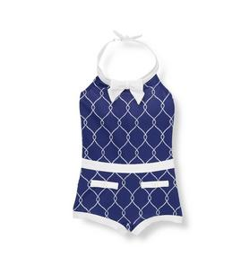 Rope Print Swimsuit