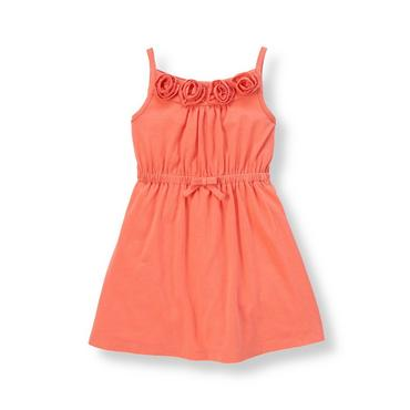Coral Breeze Rosette Knit Dress at JanieandJack