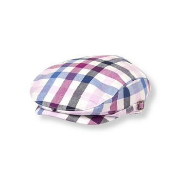 Boys Purple Gingham Gingham Canvas Cap at JanieandJack
