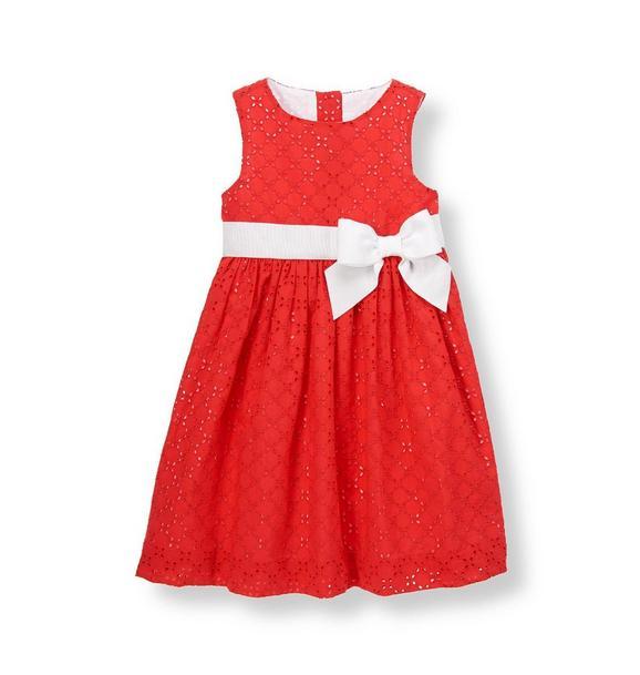 Bow Eyelet Dress