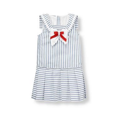 Balmy Blue Stripe Striped Sailor Dress at JanieandJack