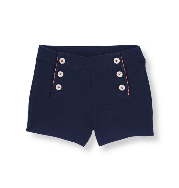 Button Pique Short
