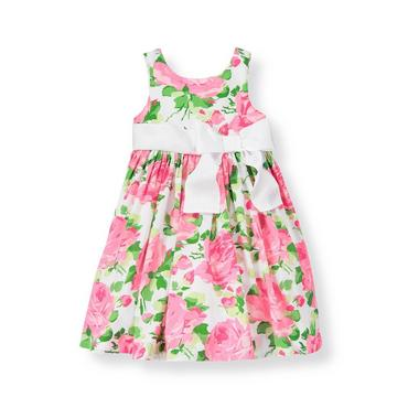 Pink Rose Rose Sateen Dress at JanieandJack