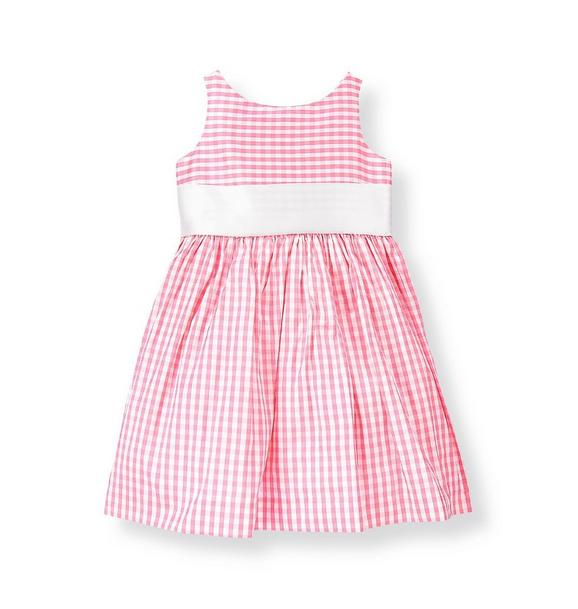 Gingham Silk Duppioni Dress