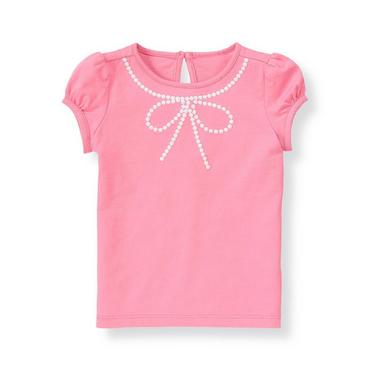 Blossom Pink Bow Necklace Top at JanieandJack
