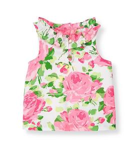 Rose Sateen Top