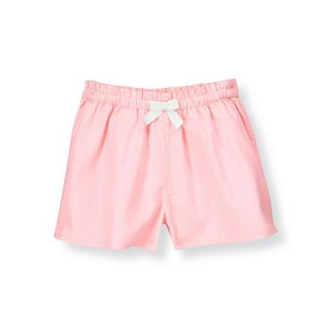 Rosebud Pink Bow Pindot Short at JanieandJack