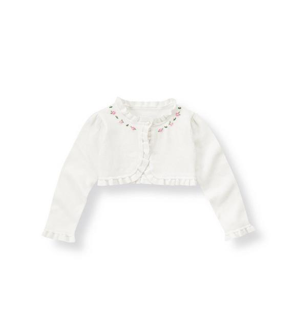 Hand-Embroidered Crop Cardigan