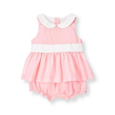 Rosebud Pink Pindot Two-Piece Set at JanieandJack
