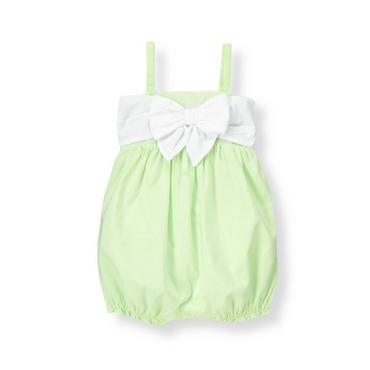 Spring Mint Bow Batiste Bubble at JanieandJack