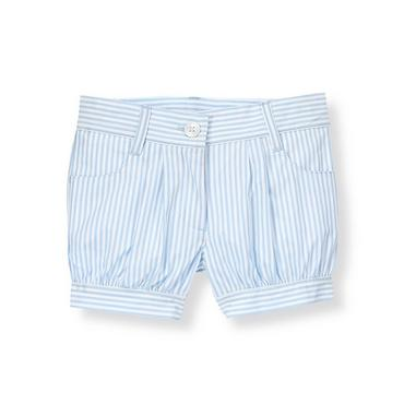 French Blue Stripe Cuffed Striped Short at JanieandJack