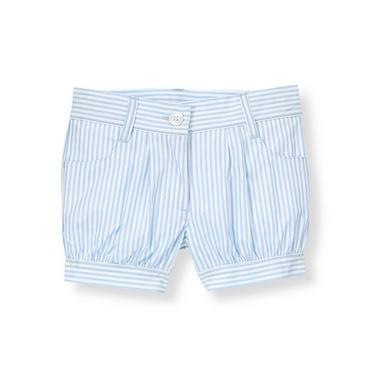 French Blue Stripe Cuffed Striped Short at JanieandJack