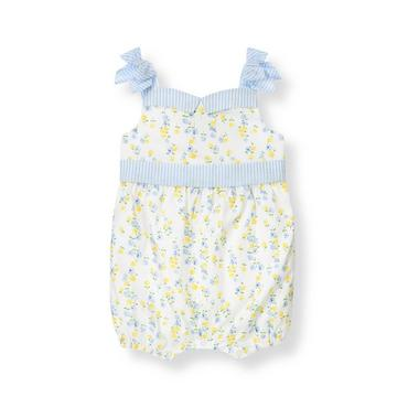White Floral Floral Bubble One-Piece at JanieandJack