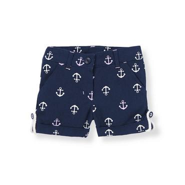 Classic Navy Anchor Cuffed Short at JanieandJack