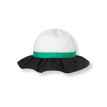 White/Black Bow Colorblock Sunhat at JanieandJack