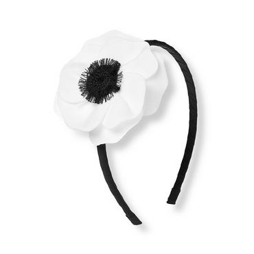 White/Black Poppy Headband at JanieandJack