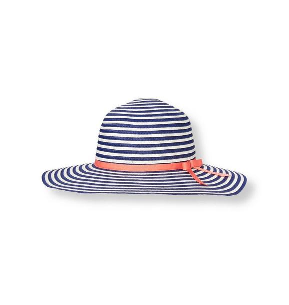 Bow Stripe Straw Sunhat