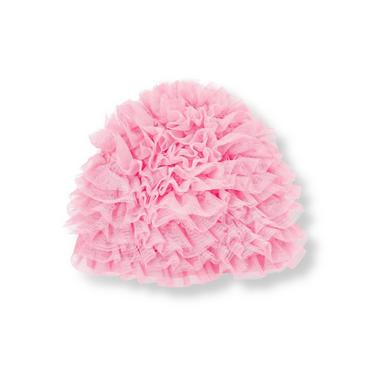 Lovely Pink Tulle Swim Cap at JanieandJack