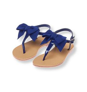 Bow Patent Thong Sandal