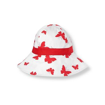 Vintage Red Butterfly Bow Butterfly Sunhat at JanieandJack