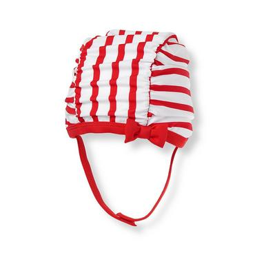 Vintage Red Stripe Stripe Swim Cap at JanieandJack