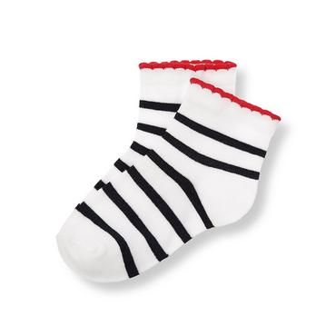 Spring Navy Stripe Stripe Sock at JanieandJack