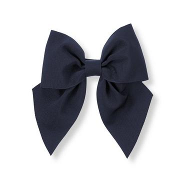 Spring Navy Bow Barrette at JanieandJack