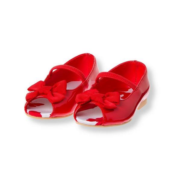Bow Patent Peep Toe Shoe