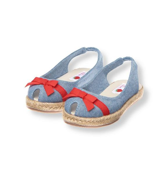 Bow Chambray Espadrille Shoe