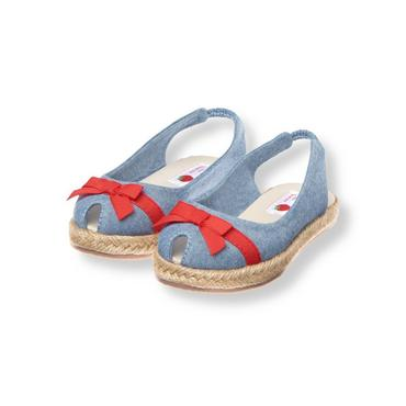 Chambray Bow Chambray Espadrille Shoe at JanieandJack
