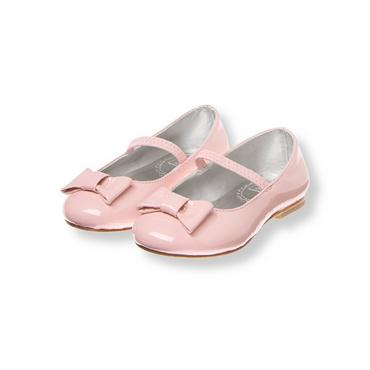 Petal Pink Bow Patent Leather Ballet Flat at JanieandJack